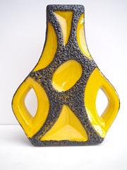 Roth Keramik 312 (PerfectRetro) Tags: black west yellow vintage roth ceramic lava arms space fat retro age german otto vase pottery rare 312 keramik