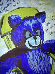 Scary Teddy (Yamina80) Tags: altered book acrylic teddy page uploaded:by=flickrmobile flickriosapp:filter=nofilter