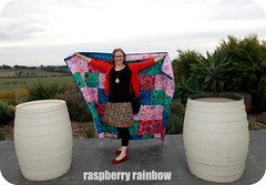 Ta da, I made a quilt! (The Land of the Raspberry Rainbow) Tags: family grandma hk flower colour love floral march blog quilt handmade fabric april imadethis petunia granny petunias madewithlove 2013 raspberryrainbow wwwraspberryrainbowcom