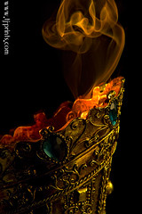 Censer XIX (TJ.Photography) Tags: lamp metal handle fire gold golden shiny glow perfume shine treasure stones metallic smoking burning flame burn ornament smell oriental orient smoker burner artifact aromatic item incense luster jewel odor artefact aroma engrave smelling censer cense