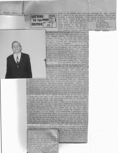 signal enterprise  Alma Ks 1965 article  Rev Tracy Hardy about '88