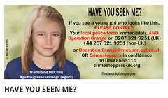 Madeliene McCann - Don't Forget Her. She has a blemish on her right eye ! (Lee Summerson) Tags: uk england portugal girl children parents missing child britain kate jerry police madeleine abduction mccann kidnapped flickrandroidapp:filter=none