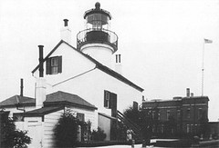 Historic Photo Of Alcatraz Island Lighthouse, San Francisco Bay (Karl Agre, M.D.) Tags: lighthousetrek