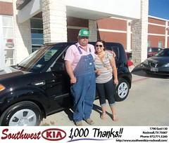 Southwest KIA of Rockwall would like to say Congratulations to Samuel Powell on the 2013 Kia Soul (Southwest Kia Rockwall) Tags: new southwest car sedan truck wagon happy dallas texas tx used vehicles mesquite bday dfw kia van suv coupe rockwall dealership hatchback dealer customers minvan 4dr metroplex shouts 2dr preowned