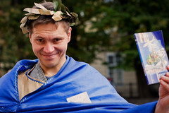 Kostija 4/100 Strangers (Vikst) Tags: portrait stranger lviv poet manualfocus manuallens canon400d 100strangersproject nikkorhc5020
