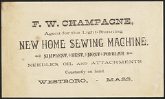The New Home sewing machine is the best - The easygoing, accurate and light running New Home sewing machine. (back) (Boston Public Library) Tags: horses women clowns sewingmachines advertisingcards newhomesewingmachineco westboromassachusetts