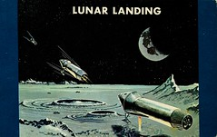 Lunar Landing, Project Apollo (SwellMap) Tags: industry vintage advertising design flying pc 60s technology fifties satellite postcard suburbia style kitsch science ufo retro nostalgia chrome americana spaceship 50s googie populuxe sixties extraterrestrial saucer babyboomer consumer coldwar midcentury spaceage atomicage