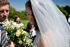 The bride and the bouquet (charlottehbest) Tags: flowers wedding beautiful june bride veil dorset bouquet studland 2013 charlottehbest lucyandjon