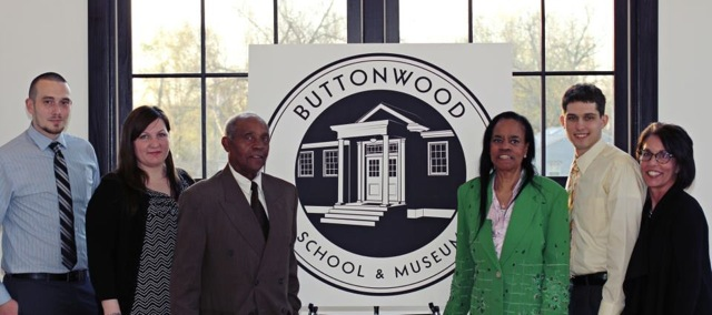 From left: WilmU Students  Scott Martin and Melissa Molitor, Eugene Petty, Teel Petty, WilmU Student Nick Coll and Instructor Gail Piazza developed the new branding for the Buttonwood School and Museum as part of a weekend modular class on commercial art & design branding.