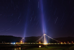 Stars above Bridge (Yohsuke_NIKON_Japan) Tags: longexposure bridge sky nature composite stars star nikon shimane izumo d600 1635mm nanocrystalcoat