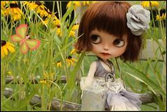 Matilde in the garden...
