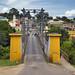 Il ponte per entrare a San Ignacio, il primo paese belizegno