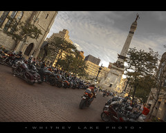 Welcome to Indy (Whitney Lake) Tags: circle indianapolis indy motorcycles bikes harleydavidson harleys motorcyclesonmeridian