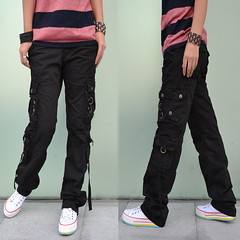 Ladies cotton cargo pants