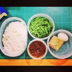 ห่อข้าวมากิน #ของเหลือในตู้เย็น #ยำสาหร่าย #ปลาร้าสับ #หมูยอ #ไข่ต้ม