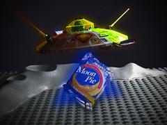 Moon Pie Abduction (rioforce) Tags: food moon cake set pie candy lego bricks alien ufo pies 1980s moonpie legobricks rioforce