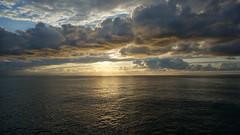 Sunset at Sea (pohuman) Tags: sunset sea sky sun clouds sony turkiye blacksea karadeniz deniz bulutlar gökyüzü rize günbatımı güneş iyidere nex6 sonynex6 selp1650