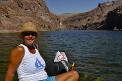 Canoe Trip (vegasstek) Tags: arizona lake kayak nevada canoe mojave coloradoriver blackcanyon