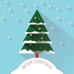 Christmas Snow (DryIcons) Tags: shadow snow tree cute snowflakes background card merrychristmas vector
