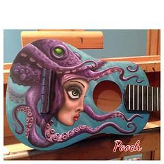 Ukelele, acrylic #octopusgirl #octopus