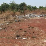 Garbage everywhere lines the roads in Zambia