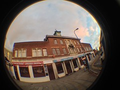 Beside the Bus Station (302/365) (CoasterMadMatt) Tags: uk greatbritain autumn england fish west building bus eye english station architecture project lens photography photo october day photos unitedkingdom britain fisheye attachment photoaday gb british 365 westmidlands busstation walsall midlands fisheyelens iphone 2013 365project walsallbusstation coastermadmatt uploaded:by=flickrmobile flickriosapp:filter=nofilter pad2013365