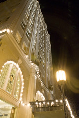 All the Bright Lights (Nick Kanta) Tags: longexposure light building architecture night oregon hotel nikon landmark historic le ashland southernoregon d90 ashlandspringshotel