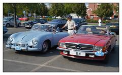 PORSCHE 356 et MERCEDES BENZ 300 SL (baffalie) Tags: auto old classic car sport vintage italian italia voiture coche scuderia italie ancienne
