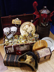 A Pirate's Booty! (Lord Gregor) Tags: silver gold stash treasure pirates jewelry booty loot pirate jewels gems horde artifacts pyrates trinkets bobbles treasurechest pyrate piratetreasure cursedtreasure