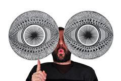Custom Eye Art by Justin Potts (Portland Freelance Photography) Tags: art ink eyes fineart artphotography productphotography customart portlandartist eyedesign ceramicplatter marypotts