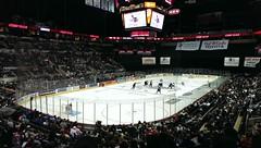 Hockey! (rightthewrong) Tags: city game oklahoma hockey san december texas stadium tx center dec arena match antonio att rampage barons 2013