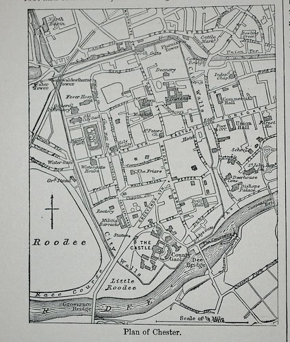 Plan of Chester- Encyclopaedia Britannica 1878