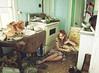 (yyellowbird) Tags: house selfportrait abandoned kitchen girl illinois cari