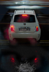 500 Abarth Lightpainting (StormerDesign) Tags: autumn winter light sunset wallpaper lightpainting rain night race painting photo nikon fiat oz d rig flare photomerge 500 panning 90 merge cinquecento abarth iphone d90 leggenda esseesse 500ab abarthonly