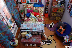 Charley in Charge: A Place to Lay her Weary Head (APPark) Tags: miniatures bedroom dolls boho dioramas urbanliving fashionroyalty 16scale
