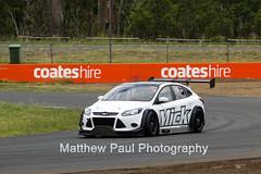 2014 Ford Focus V8 - Queensland Raceway - January 29th 2014 (adrenalinmatt) Tags: chris test ford canon lens eos focus russell jake ryan glenn january sigma keith hour marc queensland 12 mick bathurst v8 seton 29th supercars raceway mcleod 2014 600d camilleri pither ingall kassulke 150500mm