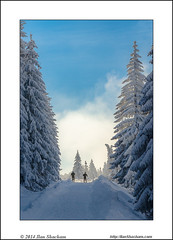 Two for cross country skiing (Ilan Shacham) Tags: road blue trees winter two sky people cloud snow mountains vertical landscape fun outdoors skiing view fineart scenic adventure crosscountry romania romantic wonderland bucegi fineartphotography winterscape carpathian predeal cabanadiham {vision}:{sky}=0719 {vision}:{outdoor}=0985 {vision}:{mountain}=0608 {vision}:{street}=0825