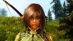 Thaeria with Bosmer Ceremonial Armor by Calyps (Crixxus) Tags: wood screenshot elf gaming enb skyrim