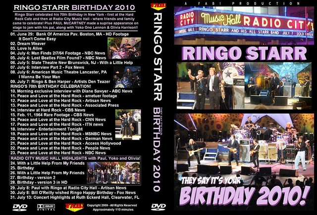 Ringo Starr They Say Its Your Birthday 2010