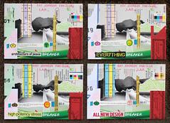 "Relationships XCIII-XCVI ""The Breakers"" mail art postcards (LANCEPHOTO) Tags: streetart collage trash postcards mailart recycling left trashy mycollages rjfc rayjohnsonfanclub"