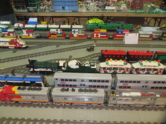 MOAH Winter Show 2014-2015 (165) (Last pass) (origamiguy1971) Tags: layout town lego mosaic spiderman trains superman batman palo alto ghostbusters moc walle moah baylug esseltine origamiguy origamiguy1971