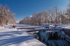 Looking Upstream (114berg) Tags: winter storm canal illinois aftermath parkway hennepin geneseo 03feb15