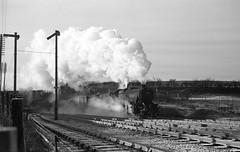 48428 approaching Oxenholme (robmcrorie) Tags: eric rail railway loco steam lancashire crewe locomotive 1960s carlisle bentley approaching 1963 oxenholme 48428 ocomotive