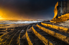 The Messengers (paulosilva3) Tags: light sunset seascape storm water skyscape fire heart air lee filters cloudscape mistyc granja