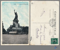 PARIS - La Statue de la Republique (bDom) Tags: paris 1900 oldpostcard cartepostale bdom