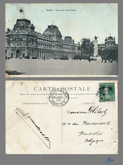 PARIS - Cour du Carrousel (bDom) Tags: paris 1900 oldpostcard cartepostale bdom