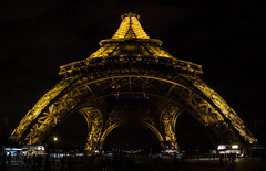 Eiffel Tower by Night (IFM Photographic) Tags: paris france night canon eiffeltower nighttime sp latoureiffel champdemars 75007 tamron 7th stitched f28 7me gustaveeiffel 7e 600d 1750mm ladamedefer 7tharrondisment tamronsp1750mm untitledpanorama3a arondisment tamronsp1750mmf28diiivc