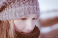 walk in the snow (AiApix) Tags: schnee winter portrait people woman snow cold face look hat walking donna walk blonde neve frau inverno spaziergang camminare