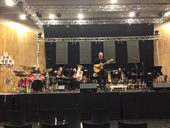 Sound check with Jonny Logan
