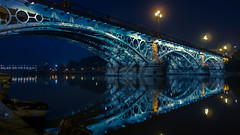 Puente de Triana - Sevilla (sebistaen) Tags: blue color rio puente sevilla spain flickr espana triana sebistaen